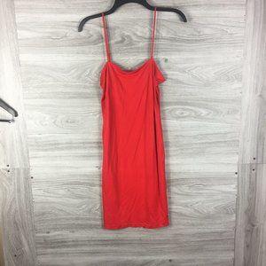 Akris Punto Red Lining Camisole Midi Dress